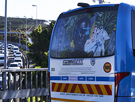 University of Cape Town: Jammie Shuttle Bus Branding